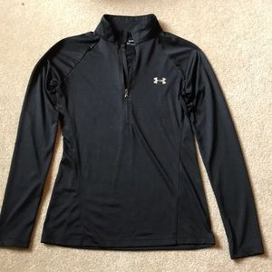 Under armour black long sleeve with zipper